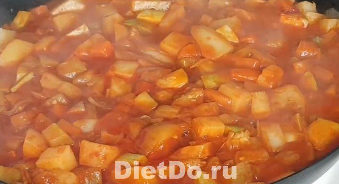 рагу из кабачков и баклажанов и картофеля рецепт приготовления