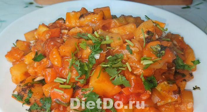 рагу из кабачков и баклажанов и картофеля