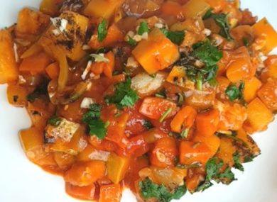 Миниатюра к статье Рагу из кабачков и баклажанов и картофеля — 2 вкусных рецепта на сковороде к посту и с мясом