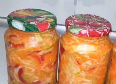 салат дунайский на зиму рецепт без стерилизации