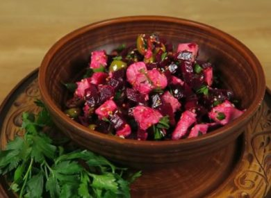Миниатюра к статье ПП салаты из вареной свеклы — 15 вкусных и простых рецептов