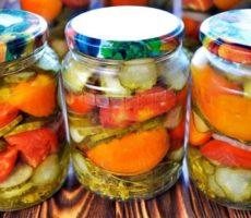 салаты из помидоров и огурцов на зиму рецепты пальчики оближешь
